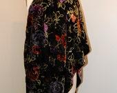 Burn-Out Velvet Silk Charmeuse Wrap