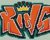 King - Graffiti Cross Stitch Pattern Pdf