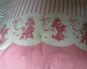 Pink Poodle Flour Sack Pillowcase, Poodle Pillow Cover