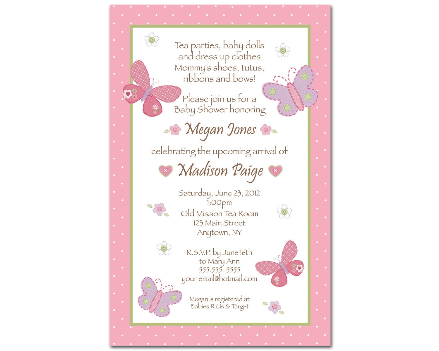 carter 39 s baby girl baby shower invitations by bdesigns4you
