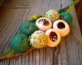 "Hand felted brooch, ""magical wood"""