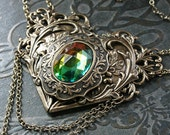HEART'S DESIRE romantic gothic Victorian style grand choker necklace with free earrings