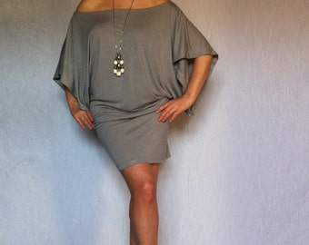 Wide Off Shoulder Dress made from Soft Cotton with Elastane/ DR002