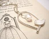 Bird on Swing Necklace - Cute Romantic Necklace