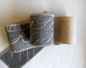 chalkboard on Burlap 4 inch ribbon/ 5 yard piece
