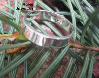 Sterling Silver, 4 mm by 1, Flat Ring