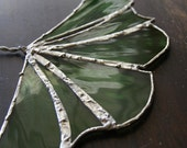STAINED GLASS: Spring Green Ginkgo Leaf
