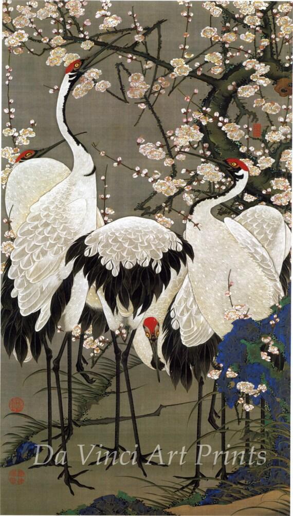 Japanese Crane Art Prints - photo#21