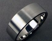 Mens Wedding Band - Titanium polished and satin