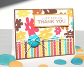 Handmade Thank You Card - That 60's Card - Free US Shipping