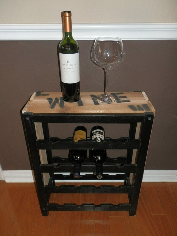 crate wine rack shipping crate inspired wine rack 16 bottle capacity 30215