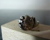 Vintage Silver Hand Grasping Gemstone Ring
