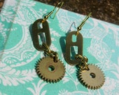 Gear & Clock Part Earrings