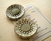 SALE Silver Handmade Vintage Button(Pack of 2)