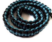 "Heavy Duty Paracord Camera Strap, Black & Teal 30"" Handwoven by RuleNo15"
