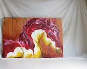 """Original acrylic on canvas, """"See Through You"""" 36""""x24"""""""