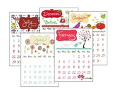 SALE - 2012 Calendar with Wooden Stand