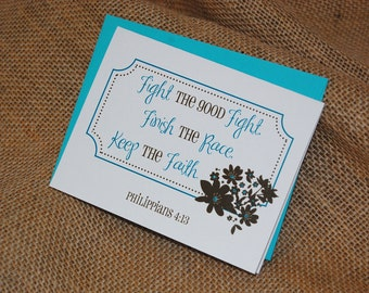 Greeting Card - Encouragement - Fight the Good Fight