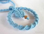 Handmade Macramé Pendant / Necklace - Sky