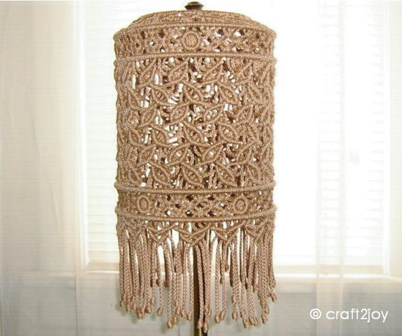 Macrame Lamp Shade for floor or table lamp