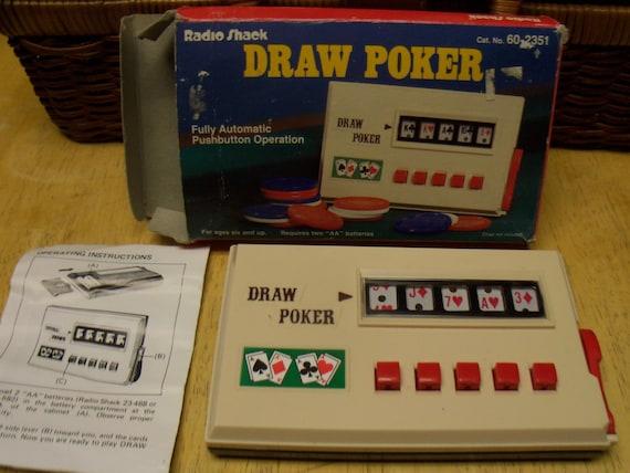 Vintage Radio Shack Electronic Draw Poker Hand Held Game Free Shipping