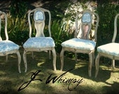 Whimsical Rough-Hewn French Dinning Chairs