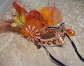 Handmade Masquerade Mask Carnival Mardi Gras Halloween Costume (HEAVENLY HARVEST)