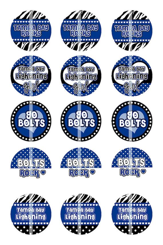 Tampa Bay Lightning Rocks - Digital Collage Sheet - 1 Inch Digital Bottle Cap Images - BUY 2 get 1 FREE