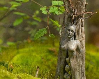 5 x 8 Print - Art Card, Spirit Tree Woman with Stones