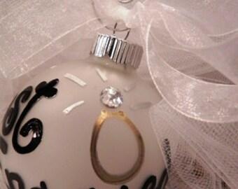 Custom Engagement Ornament
