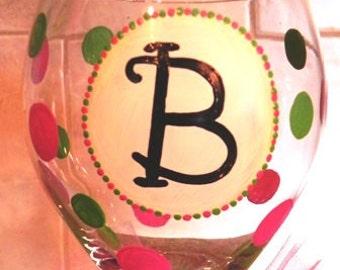 Monogram Wine Glass - Made to Order