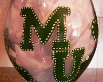 Sports Team Hand Painted Wine Glass - Made to Order - Includes Gift Wrap