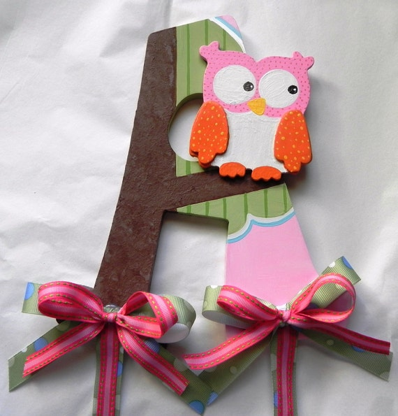 Made to Order - Hand painted Owl Bow Holder