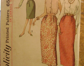 Vintage 1960s Uncut Simplicity 5192 Maxi Skirt And High Round Neckline Blouse