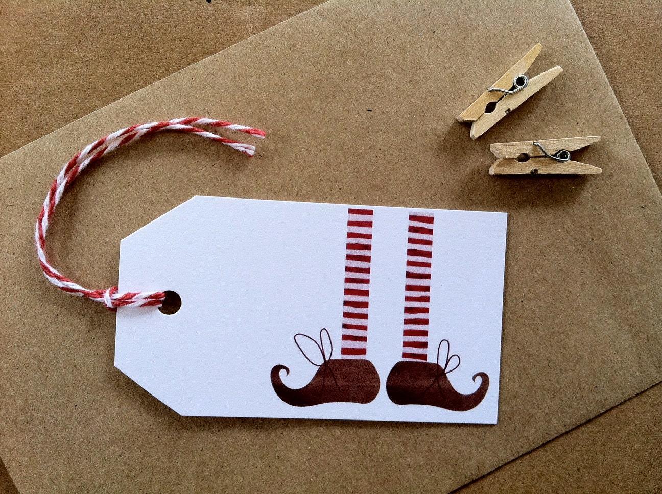 Christmas Name Plates and Stationery - PreKinders  |Christmas Elf Tag