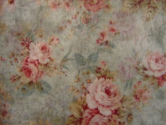 vintage floral wallpaper image,French shabby chic pink roses,large wooden tag/dresser/door hanger-salvaged wood