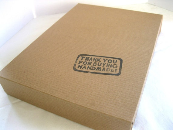 RESERVED FOR JACI - Apparel Gift Boxes - Stamped Kraft Paper Boxes Set of 20 - Handmade - Large Size for Scarves, clothing, and Accessories