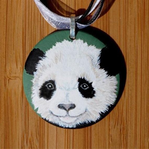 Panda Necklace Unique Bear Cub OOAK
