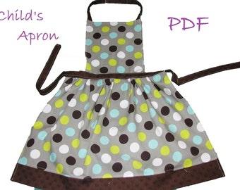 Child size apron PDF Instant download