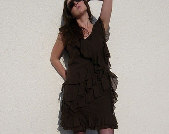 Lilly-Fee dress coffe-brown