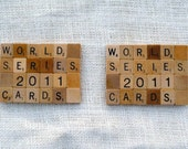 St. Louis Cardinals World Series Scrabble Coasters - Pack of two