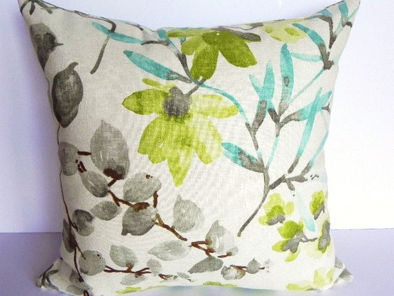 Floral braemore decorative pillow cover 20x20 home by - Fabric for throw pillows ...