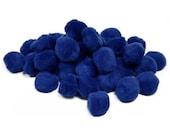"""1/2"""" Blue Pom Poms (100pc)"""