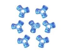 Dark Sapphire Tri-Shaped Beads