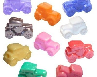 100  Classic Car Beads - Assorted Colors