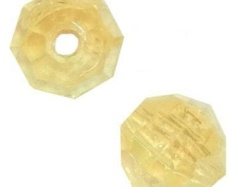 8mm Yellow Faceted Beads - 480 Beads