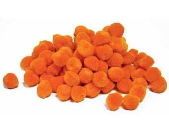 """1/2"""" Orange Pom Poms (100pc)"""