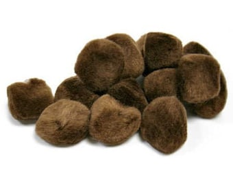 "1/2"" Brown Pom Poms (100pc)"