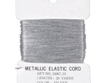 Silver Elastic Cord (60 feet)