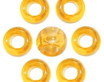 720 Acid Yellow Transparent Pony Beads